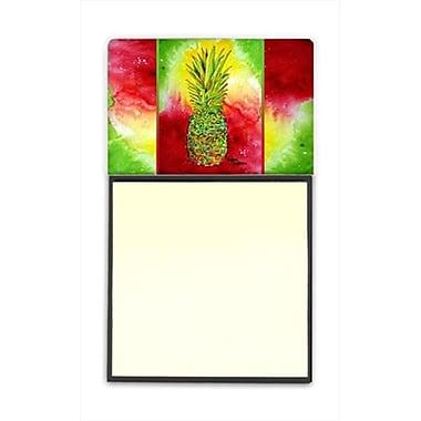 Carolines Treasures Pineapple Refiillable Sticky Note Holder or Postit Note Dispenser, 3 x 3 In. (CRlT60063)