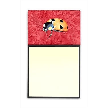 Carolines Treasures lady Bug on Red Refiillable Sticky Note Holder or Postit Note Dispenser, 3 x 3 In. (CRlT60077)