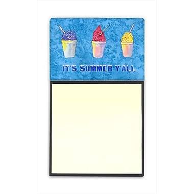 Carolines Treasures Snowballs and Snowcones Refiillable Sticky Note Holder or Postit Note Dispenser, 3 x 3 In. (CRlT60075)