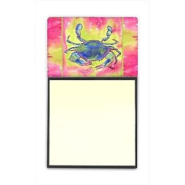 Carolines Treasures Crab Refiillable Sticky Note Holder or Postit Note Dispenser, 3 x 3 In. (CRlT60045)