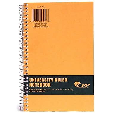 Carolina Pad - Cpp Carolina Pad - Cpp 775 7.75 in. x 5 in. College Ruled Wirebound Notebook With Kraft Co (JNSN63220)