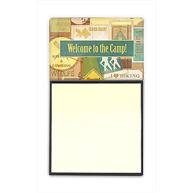 Carolines Treasures Welcome to the Camp Refiillable Sticky Note Holder or Postit Note Dispenser, 3 x 3 In. (CRlT60346)