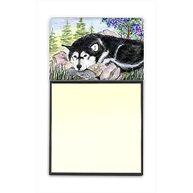 Carolines Treasures Alaskan Malamute Refiillable Sticky Note Holder or Postit Note Dispenser, 3 x 3 In. (CRlT60383)