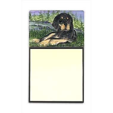 Carolines Treasures Gordon Setter Refiillable Sticky Note Holder or Postit Note Dispenser, 3 x 3 In. (CRlT60370)