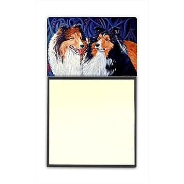 Carolines Treasures Sheltie Refiillable Sticky Note Holder or Postit Note Dispenser, 3 x 3 In. (CRlT59920)