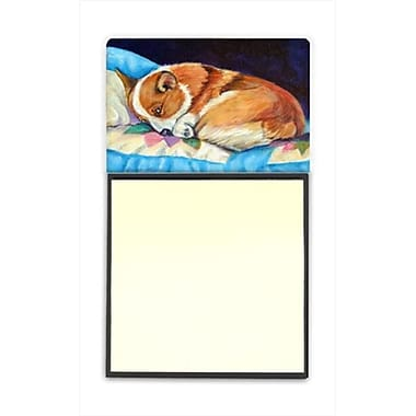 Carolines Treasures Corgi Refiillable Sticky Note Holder or Postit Note Dispenser, 3 x 3 In. (CRlT59911)