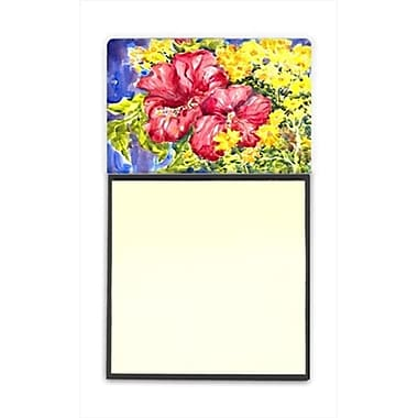 Carolines Treasures Flower - Hibiscus Refiillable Sticky Note Holder or Postit Note Dispenser, 3 x 3 In. (CRlT59874)