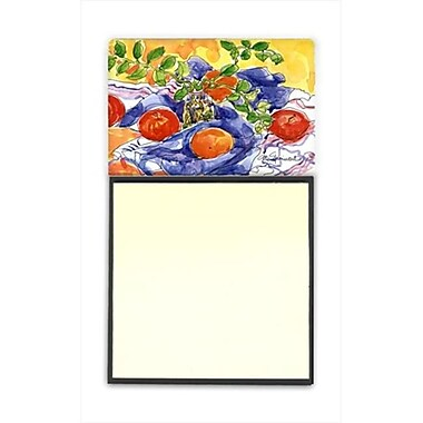 Carolines Treasures Apples Refiillable Sticky Note Holder or Postit Note Dispenser, 3 x 3 In. (CRlT59866)