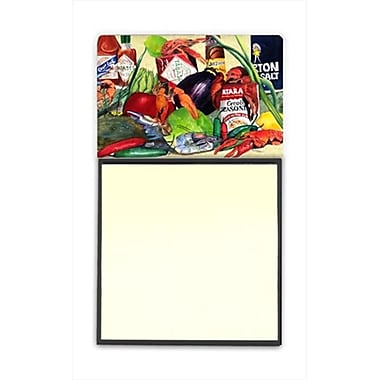 Carolines Treasures Spices and Crawfish Refiillable Sticky Note Holder or Postit Note Dispenser, 3 x 3 In. (CRlT59851)