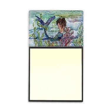 Carolines Treasures Brunette Mermaid Coral Fantasy Sticky Note Holder (CRlT95981)