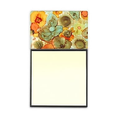 Carolines Treasures Abstract Flowers Teal and Orange Sticky Note Holder (CRlT95977)