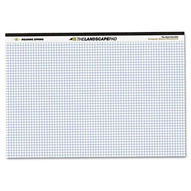 Roaring Springs landscape Format Writing Pad Quad Ruled 11 x 9-1/2 White 40 Sheets/Pad (AZROA74505)