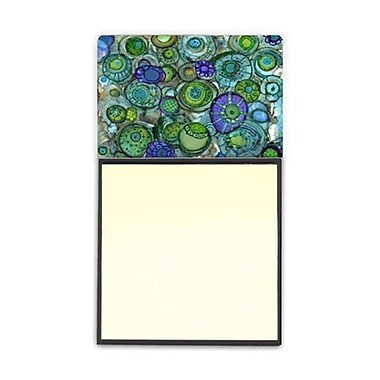 Carolines Treasures Abstract in Blues and Greens Sticky Note Holder (CRlT95973)
