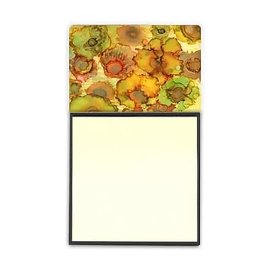 Carolines Treasures Abstract Flowers in Yellows and Oranges Sticky Note Holder (CRlT95994)