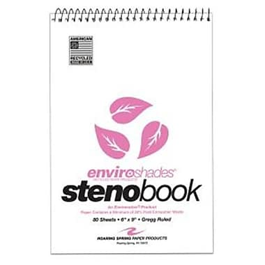 Roaring Spring Paper Products Enviroshades Steno Book - 80 Sheets Per Book (RSPRD051)