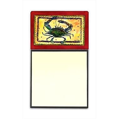 Carolines Treasures Crab Refiillable Sticky Note Holder or Postit Note Dispenser, 3 x 3 In. (CRlT59964)