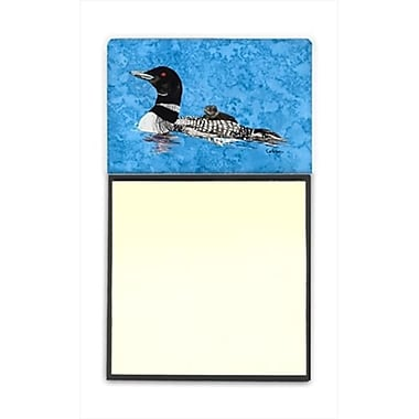 Carolines Treasures Momma and Baby loon Refiillable Sticky Note Holder or Postit Note Dispenser, 3 x 3 In. (CRlT59947)