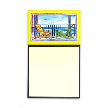 Carolines Treasures Adirondack Chairs Yellow Refiillable Sticky Note Holder or Postit Note Dispenser, 3 x 3 In. (CRlT59978)