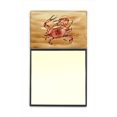 Carolines Treasures Cooked Crab Sandy Beach Refiillable Sticky Note Holder or Postit Note Dispenser, 3 x 3 In. (CRlT60027)