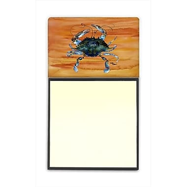 Carolines Treasures Crab Refiillable Sticky Note Holder or Postit Note Dispenser, 3 x 3 In. (CRlT60023)