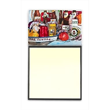 Carolines Treasures Verons and New Orleans Beers Refiillable Sticky Note Holder or Postit Note Dispenser, 3 x 3 In. (CRlT59846)