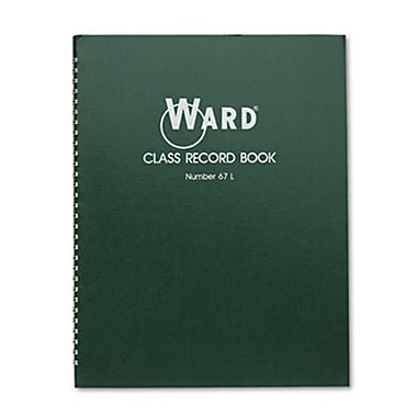 The Hubbard Company Class Record Book 38 Students, 6-7 Week Grading (AZTY07043)