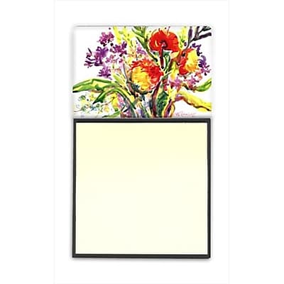Carolines Treasures Flower Refiillable Sticky Note Holder or Postit Note Dispenser, 3 x 3 In. (CRlT59863) 2636020