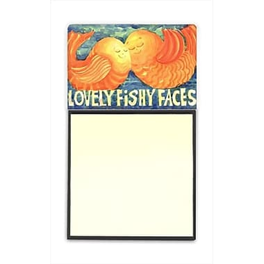 Carolines Treasures Fish - Kissing Fish Refiillable Sticky Note Holder or Postit Note Dispenser, 3 x 3 In. (CRlT59870)