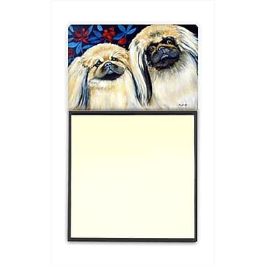 Carolines Treasures What a pair of Pekingese Refiillable Sticky Note Holder or Postit Note Dispenser, 3 x 3 In. (CRlT59896)