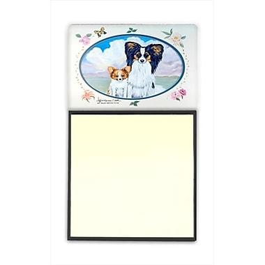 Carolines Treasures Papillon Refiillable Sticky Note Holder or Postit Note Dispenser, 3 x 3 In. (CRlT59901)