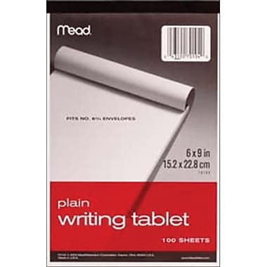 Meadwestvaco 468115 Writing Tablet 6 in. x 9 in. 100 Sheets-Pad-Unruled White (NMG42966)