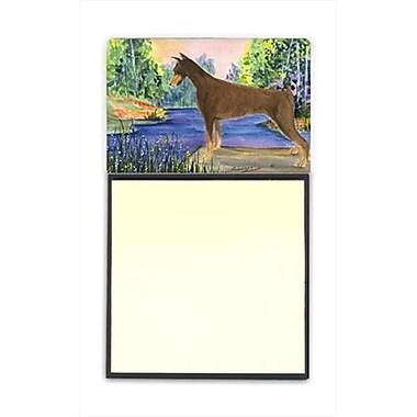 Carolines Treasures Doberman Refiillable Sticky Note Holder or Postit Note Dispenser, 3 x 3 In. (CRlT60386)