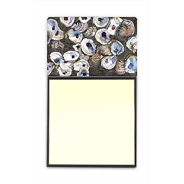 Carolines Treasures Oysters Refiillable Sticky Note Holder or Postit Note Dispenser, 3 x 3 In. (CRlT60178)