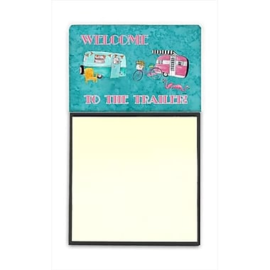 Carolines Treasures Another Day in Paradise Refiillable Sticky Note Holder or Postit Note Dispenser, 3 x 3 In. (CRlT60171)