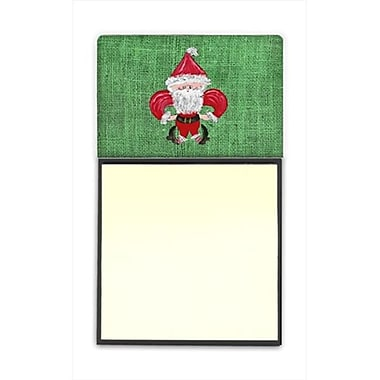 Carolines Treasures Christmas Santa Fleur de lis Refiillable Sticky Note Holder or Postit Note Dispenser, 3 x 3 In. (CRlT60167)