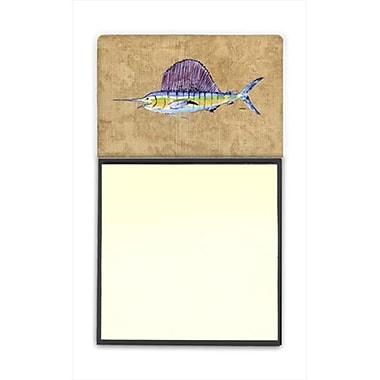 Carolines Treasures Swordfish Refiillable Sticky Note Holder or Postit Note Dispenser, 3 x 3 In. (CRlT60188)