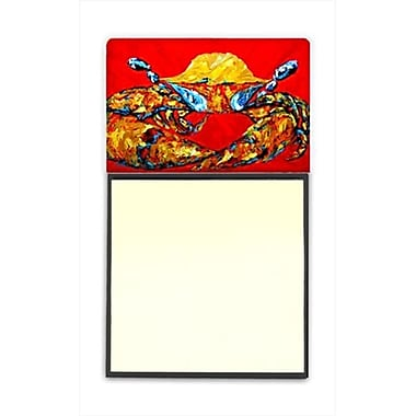 Carolines Treasures Crab Fat and Sassy Refiillable Sticky Note Holder or Postit Note Dispenser, 3 x 3 In. (CRlT60258)