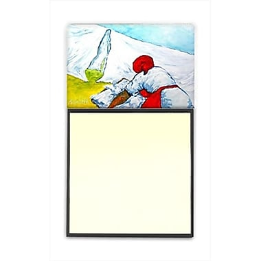 Carolines Treasures Must Be Monday Refiillable Sticky Note Holder or Postit Note Dispenser, 3 x 3 In. (CRlT60243)