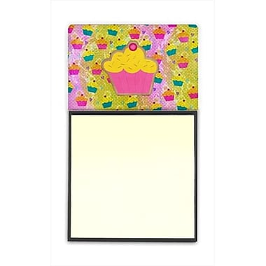 Carolines Treasures Cupcake Refiillable Sticky Note Holder or Postit Note Dispenser, 3 x 3 In. (CRlT60281)