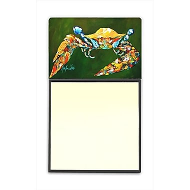 Carolines Treasures Go Green Crab Refiillable Sticky Note Holder or Postit Note Dispenser, 3 x 3 In. (CRlT60014)