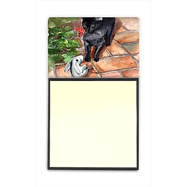 Carolines Treasures Cat Refiillable Sticky Note Holder or Postit Note Dispenser, 3 x 3 In. (CRlT60008)