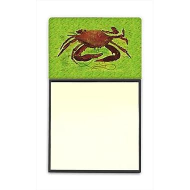 Carolines Treasures Crab Refiillable Sticky Note Holder or Postit Note Dispenser, 3 x 3 In. (CRlT59990)