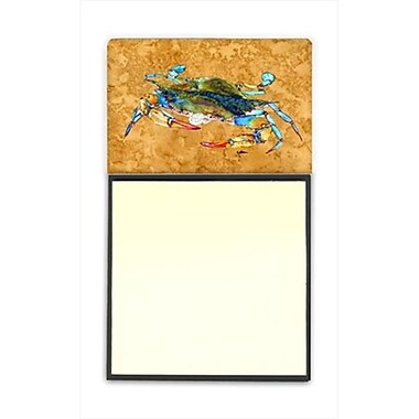 Carolines Treasures Crab Refiillable Sticky Note Holder or Postit Note Dispenser, 3 x 3 In. (CRlT60070)