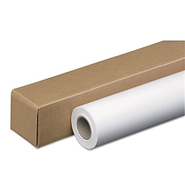 Accufax Wide-Format Inket Paper Roll, 24 lbs., 2 in. Core, 42 in. x 150 ft, White. Amerigo (AZERTY10694)