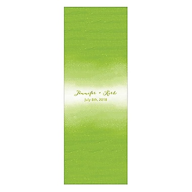 Wedding Star Aqueous Matchbox Favor Wrap, Candy Apple Green - Pack of 8 (WED9864)