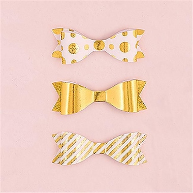 Wedding Star Medium Assorted Metallic Gold Paper Bows (WED9406)
