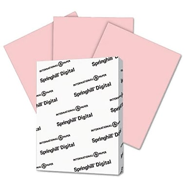 Springhill 8.5 x 11 Digital Vellum Bristol Color Cover - Pink (AZTY14845)