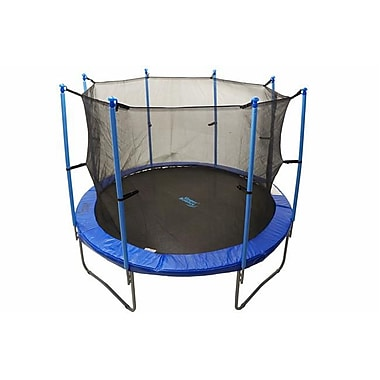 Upper Bounce 10 FT. Trampoline and Enclosure Set equipped with the New UPPER BOUNCE EASY ASSEMBlE FEATURE (KSH162)