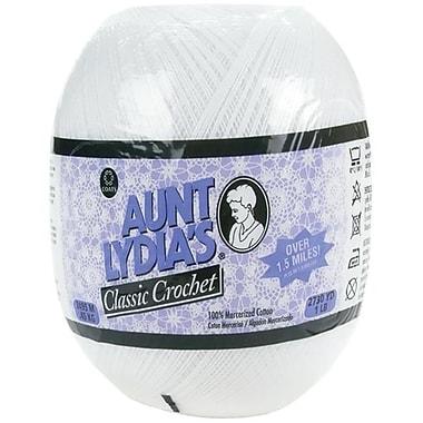 Coats - Crochet and Floss Aunt lydias Crochet Cotton Classic Size 10-White (NTMKGP4884)