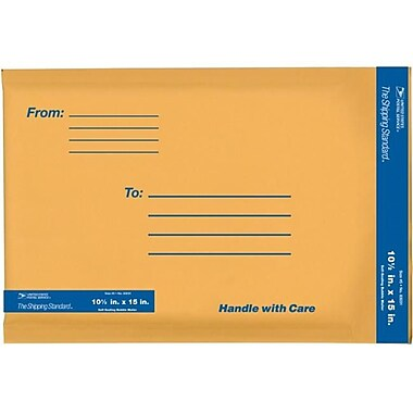 lepages Inc 10.5 in. x 15 in. Kraft Manila USPS Padded Mailers (JNSN65991)